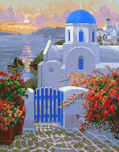 Santorini Island in the Aegean Sea - All Paint by numbers