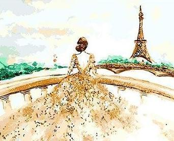 Girl in Wedding Gown - All Paint by numbers