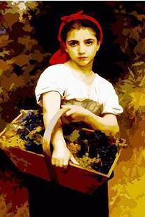 A Girl with A Basket - All Paint by numbers