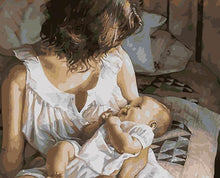 Load image into Gallery viewer, A Mother with her Baby - All Paint by numbers