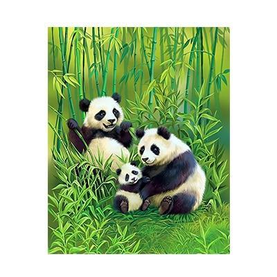 A Panda Family - All Paint by numbers