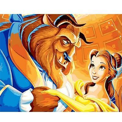 Beauty & the Beast Animated Movie Characters - All Paint by numbers