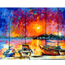 Load image into Gallery viewer, Boats Resting by the River - All Paint by numbers