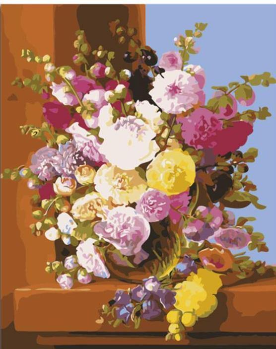 Colorful Flower in A Vase - All Paint by Numbers