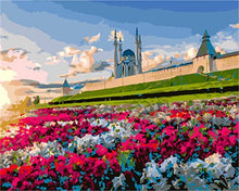 Load image into Gallery viewer, A Landscape with Colorful Flowers - All Paint by numbers