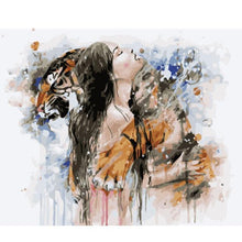 Load image into Gallery viewer, A Girl & A Black Leopard - All Paint by numbers