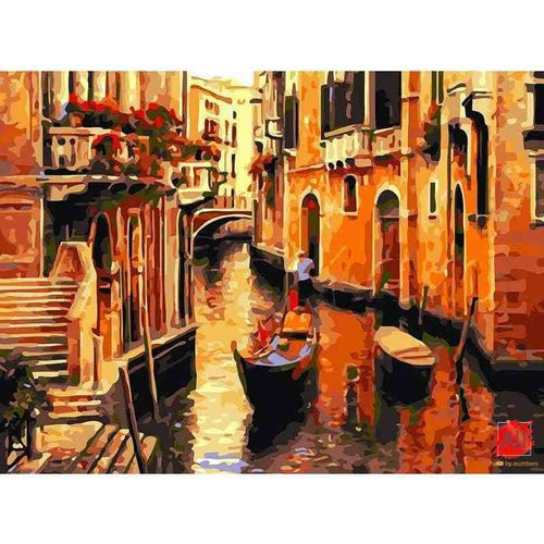 Venice Street Vintage Painting - All Paint by numbers