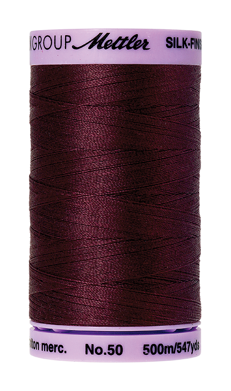 Mettler Silk-Finish Mercerized Cotton Thread, Color 0111, Beet Red