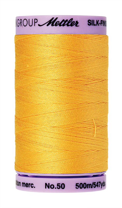 Mettler Silk-Finish Mercerized Cotton Thread, Color  0120, Summersun