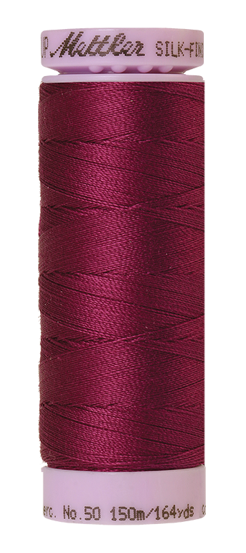 Mettler Silk-Finish Mercerized Cotton Thread, Color 0157, Sangria