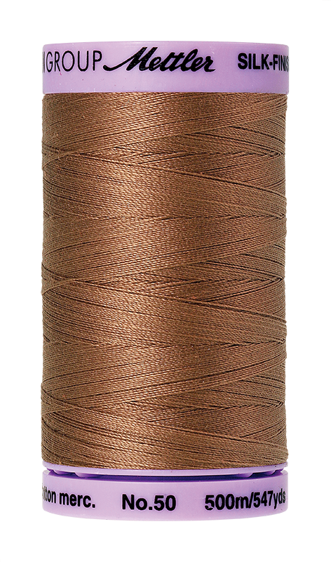 Mettler Silk-Finish Mercerized Cotton Thread, Color 0280, Walnut