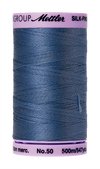 Mettler Silk-Finish Mercerized Cotton Thread, Color 0311, Blue Shadow