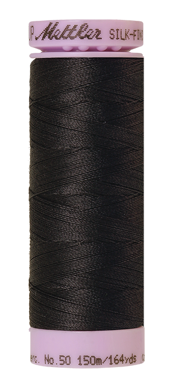 Mettler Silk-Finish Mercerized Cotton Thread, Color 0348, Mole Gray