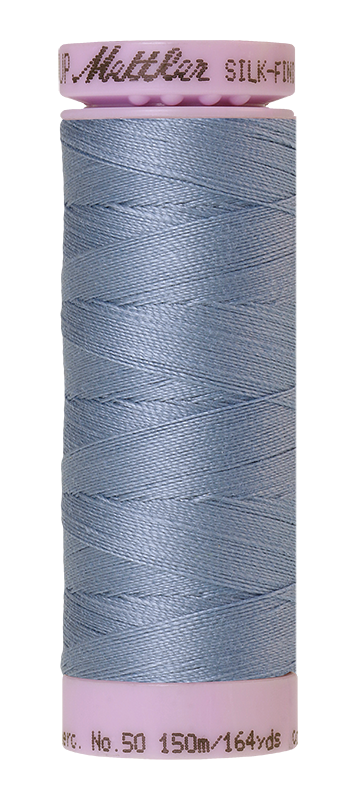 Mettler Silk-Finish Mercerized Cotton Thread, Color 0350, Summer Sky