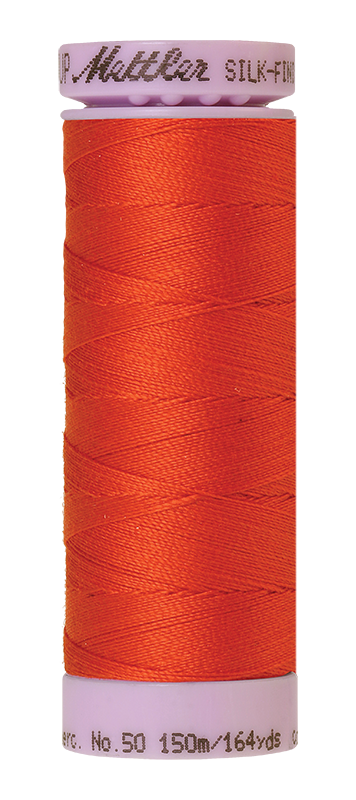Mettler Silk-Finish Mercerized Cotton Thread, Color 0450, Paprika