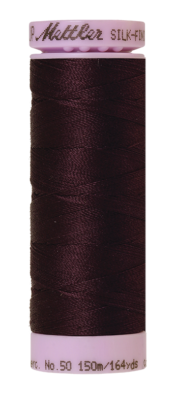 Mettler Silk-Finish Mercerized Cotton Thread, Color  0481, Plum Perfect