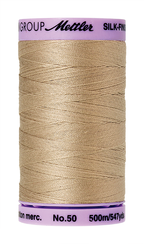 Mettler Silk-Finish Mercerized Cotton Thread, Color 0538, Straw