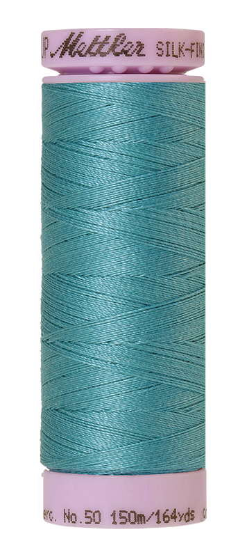 Mettler Silk-Finish Mercerized Cotton Thread, Color 0611, Blue-green Opal