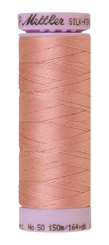 Mettler Silk-Finish Mercerized Cotton Thread, Color 0637, Antique Pink