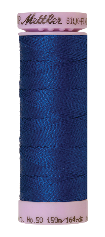 Mettler Silk-Finish Mercerized Cotton Thread, Color 0816, Royal Navy