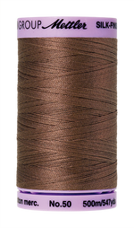 Mettler Silk-Finish Mercerized Cotton Thread, Color 1380, Espresso