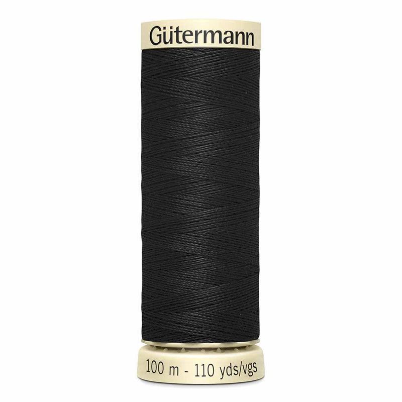 GÜTERMANN Sew-All Thread, Color 10, Black