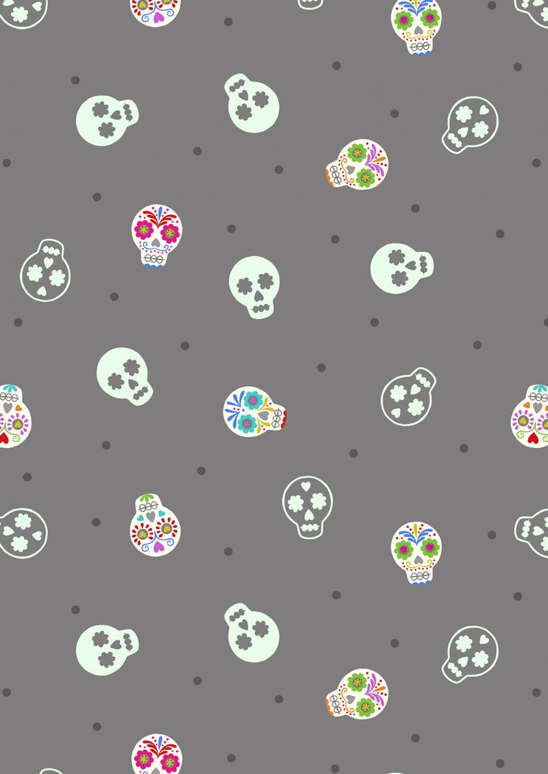 Small Things Glow - Skulls Grey/glow