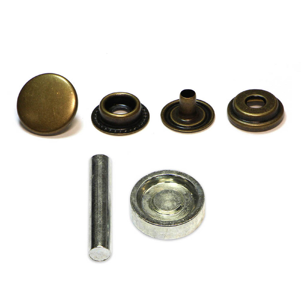 Unique 8 heavy duty snap fasteners - bronze
