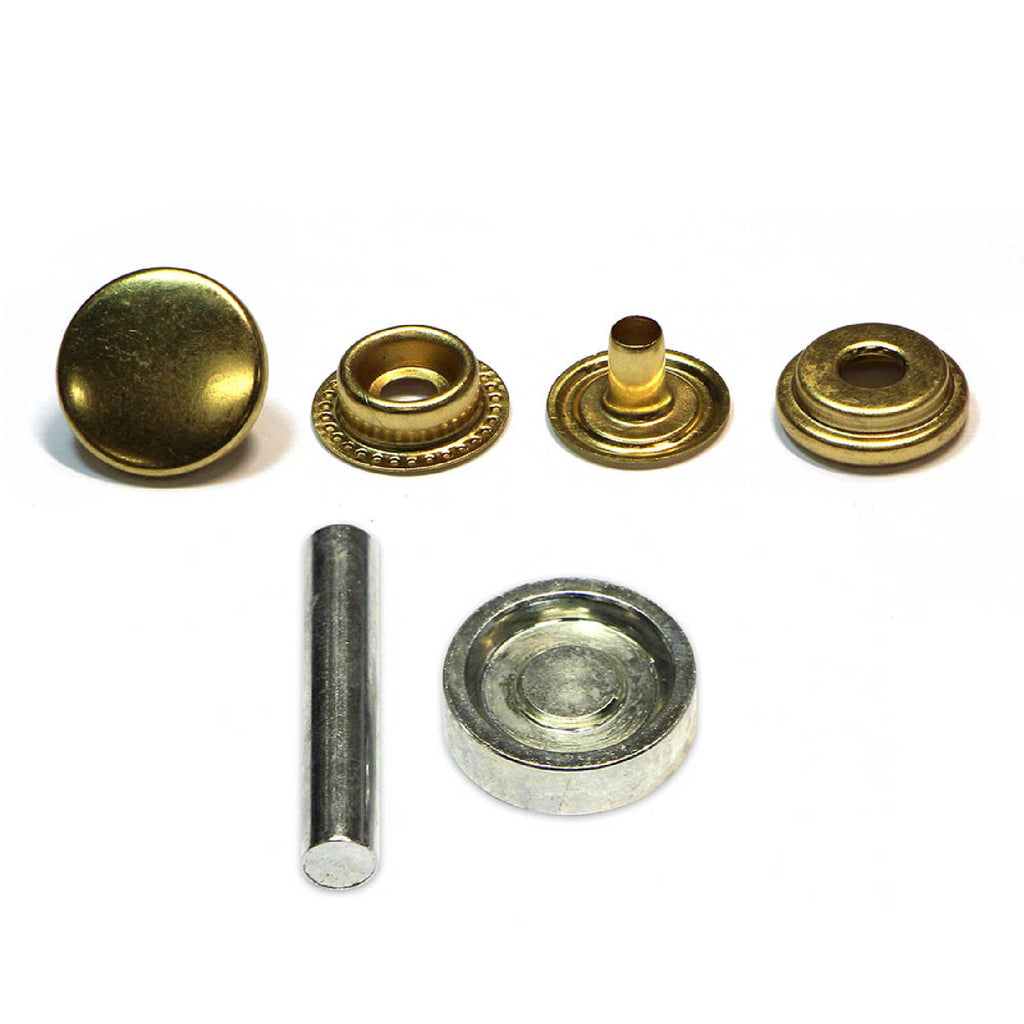 Unique 8 heavy duty snap fasteners - gold