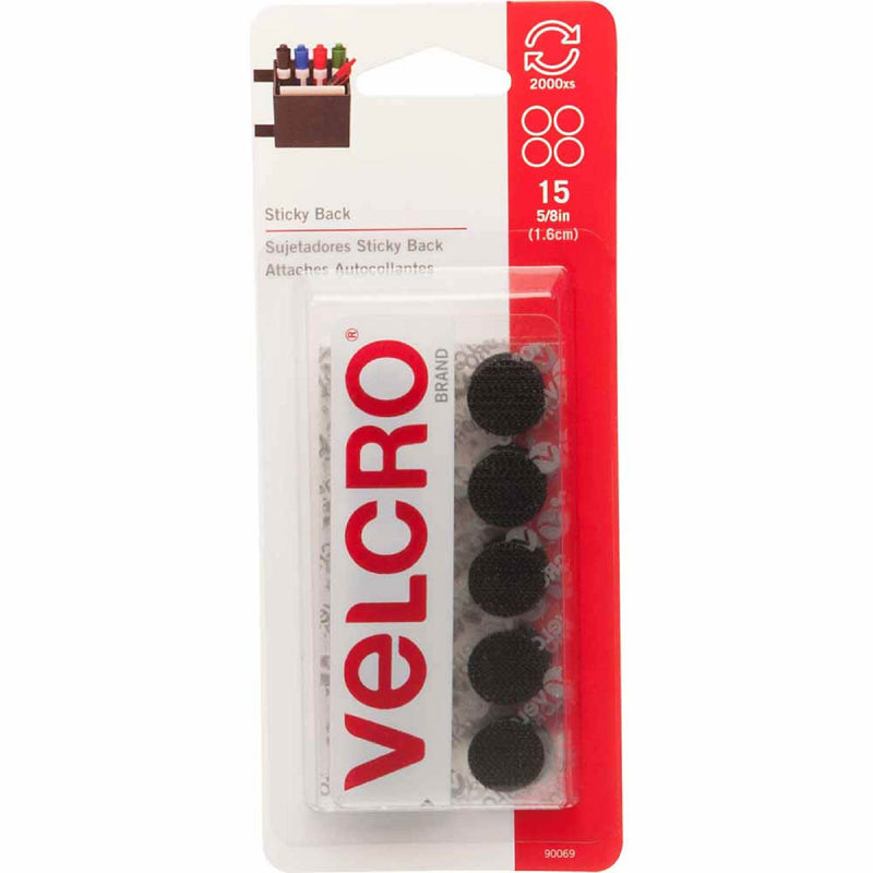 Velcro - package - sticky back - black
