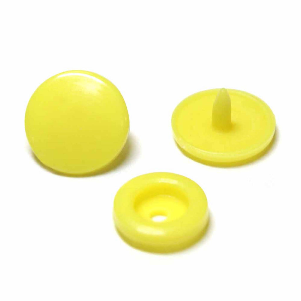 Unique plastic snaps - yellow