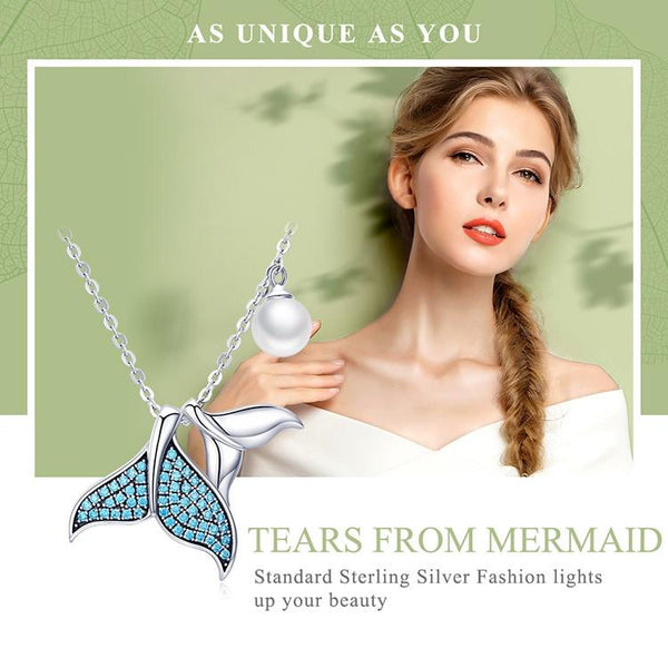 Silver Tears from Mermaid Necklaces