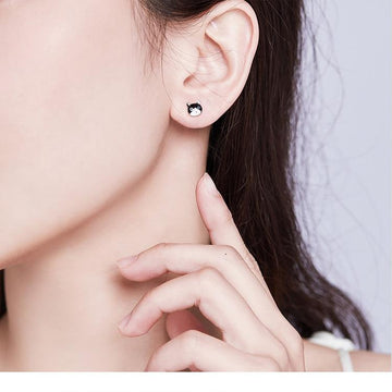 Cute Style Cat and Fish Stud Earrings