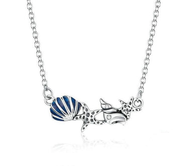 Ocean Shell & Starfish Chain Necklace