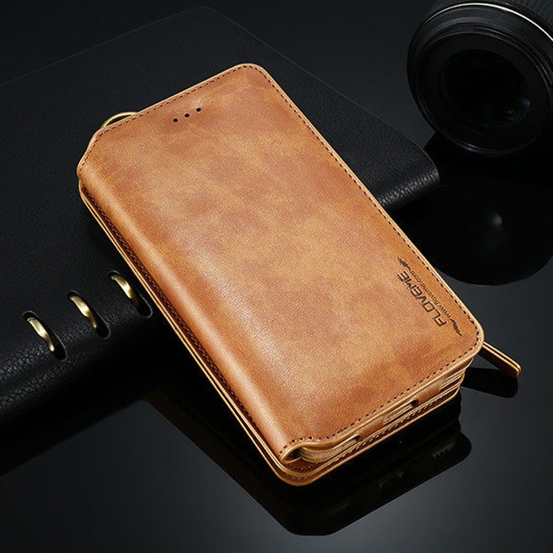 Classic Retro Stand  Wallet Case For Samsung S21 Ultra 5G/S21+5G/S21 5G/Note 20/Note 20Ultra/S20/S20+/S20Ultra/