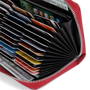 Women Credit Card Wallet Leather RFID Wallet,HUGE STORAGE CAPACITY
