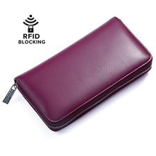 Load image into Gallery viewer, Women Credit Card Wallet Leather RFID Wallet,HUGE STORAGE CAPACITY