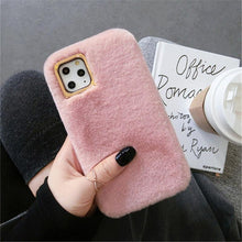 Load image into Gallery viewer, Lovebay Plush Furry Fluffy Fur Phone Case For iPhone