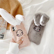 Load image into Gallery viewer, Moving rabbit ear plush phone case For Samsung