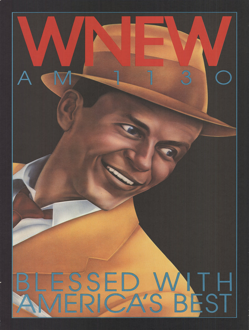 "WNEW Frank Sinatra 45"" x 29.5"" Offset Lithograph"