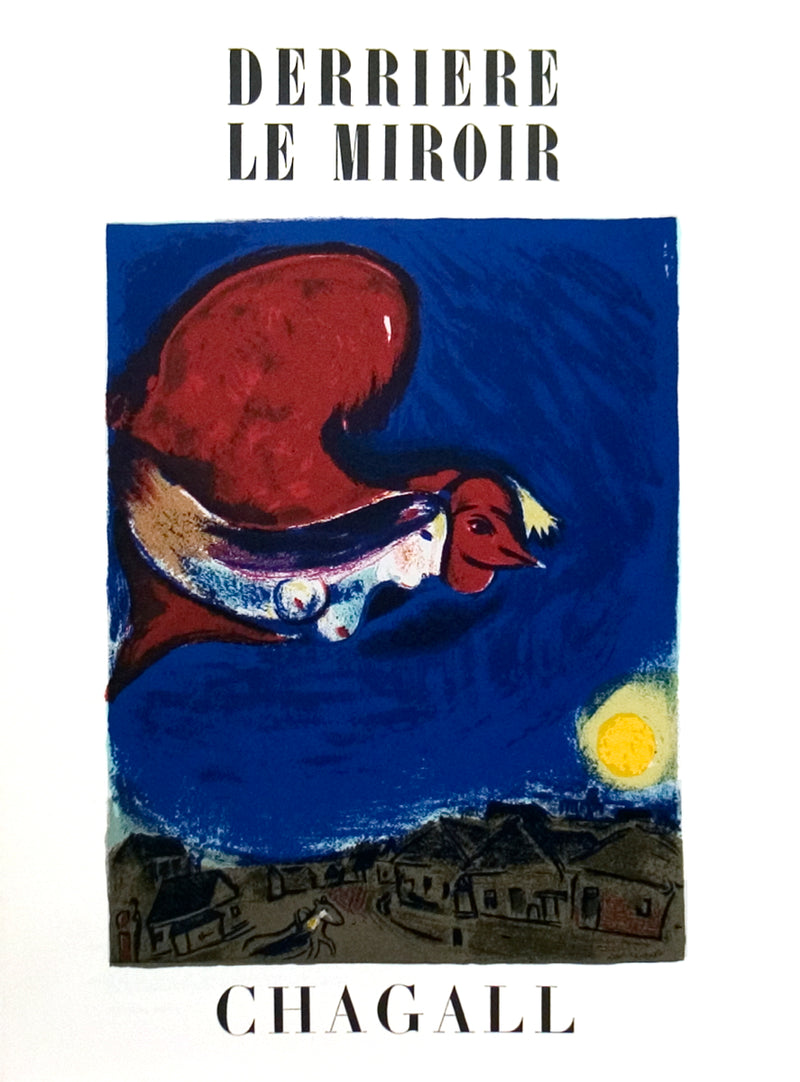 "MARC CHAGALL Derriere Le Miroir no. 27-28 Cover 15"" x 11"" Lithograph Modernism Blue, Red"