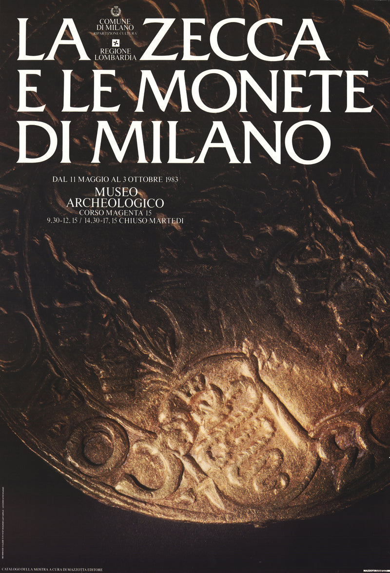 The Mint and Coins of Milan 38 x 26.5 Poster 1983 Gold, Black