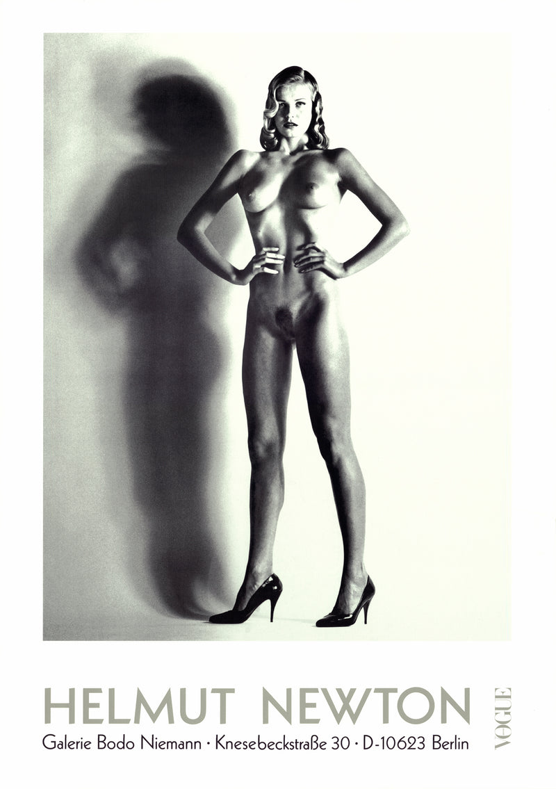 "HELMUT NEWTON Big Nude 33"" x 23.25"" Poster Photography Black & White"