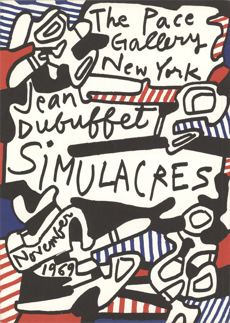 Jean Dubuffet Simulacres-Deck of 50 cards Postcard