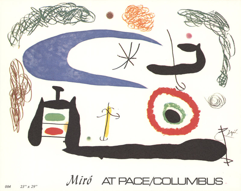 Joan Miro Invitation x 50 cards Postcard