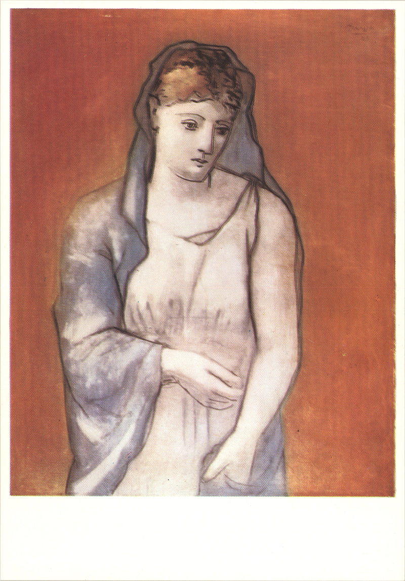Pablo Picasso The Woman with a Blue Veil Postcard