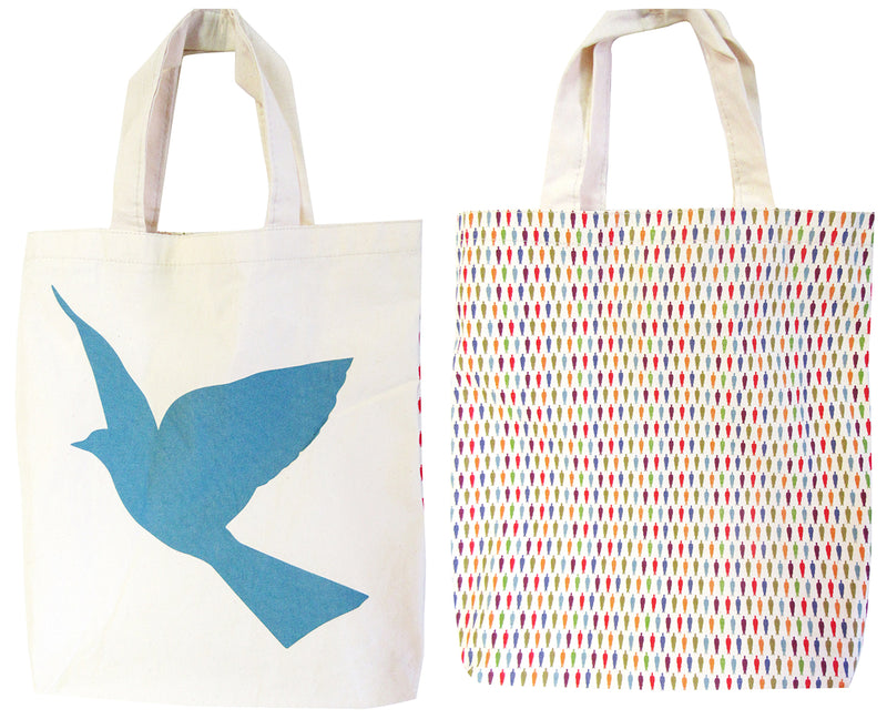 Rene Magritte Bird with Colored Pattern Tote Bag
