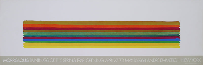 "MORRIS LOUIS Paintings of the Spring 12"" x 37"" Poster 1978 Abstract,"