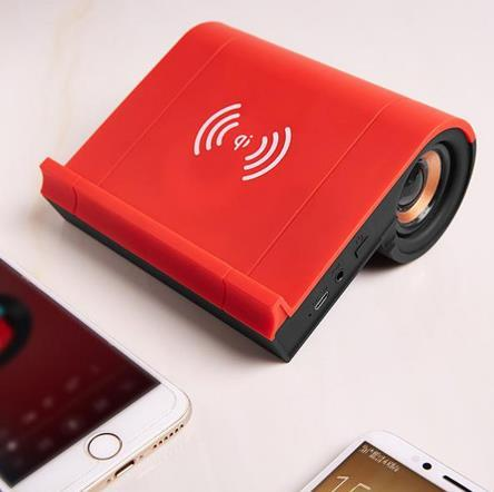 3-in-1 Phone Holder with Wireless Charger and Speaker