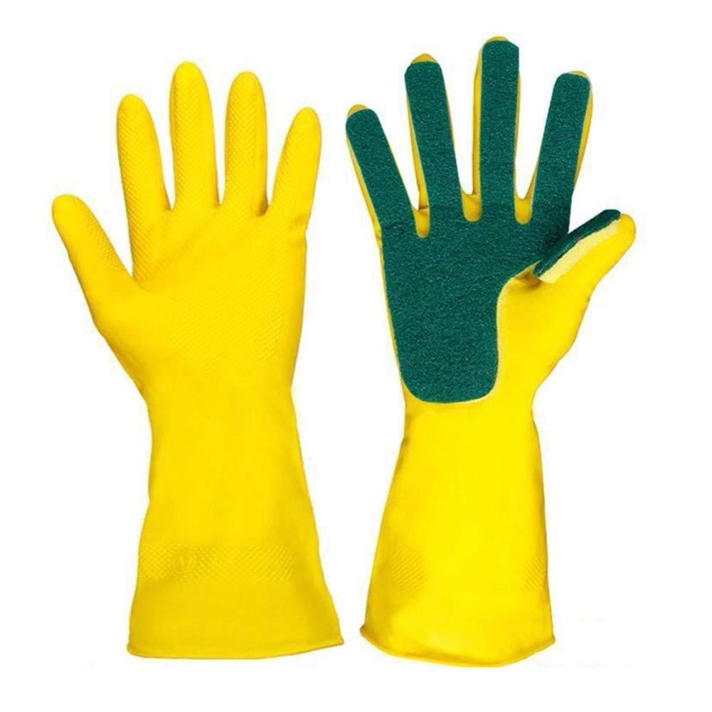 Cleaning Gloves with Scrubbing Pad